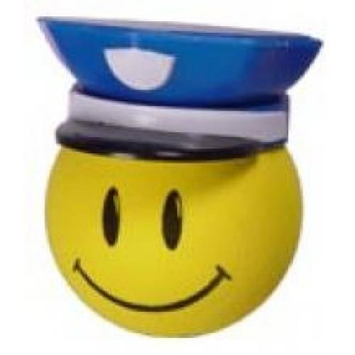 *Last One* HappyBalls Happy Police Antenna Topper / Desktop Spring Stand