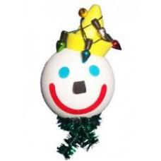2007 Jack in the Box Christmas Lights Car Antenna Topper / Desktop Bobble Buddy