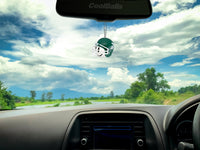 Michigan State Spartans Car Antenna Topper / Desktop Bobble Buddy (White Smiley)(College Football)