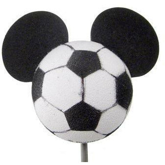 *Last One* Disney Mickey Soccer Antenna Topper / Desktop Spring Stand
