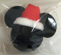 Mickey Mouse Santa Hat (Plain Black) Car Antenna Topper / Desktop Bobble Buddy
