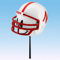 Nebraska Cornhuskers Football Car Antenna Topper / Desktop Bobble Buddy (White Smiley)