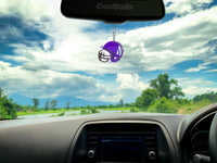 Northwestern Wildcats Car Antenna Topper / Desktop Bobble Buddy (White Smiley) (College Football)