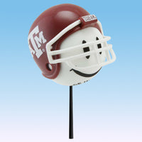 Texas A&M Aggies Car Antenna Topper / Desktop Bobble Buddy (White Smiley) (College Football)