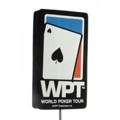 Vintage World Poker Tour Car Antenna Topper / Desktop Spring Stand Bobble