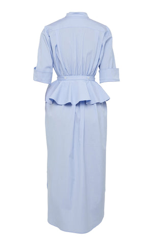 Florican Shirt Dress - Pale Blue