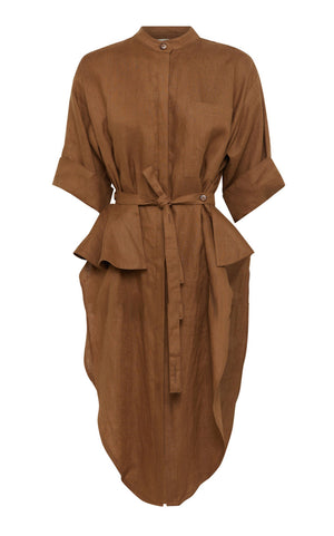 Florican Shirt Dress - Tobacco