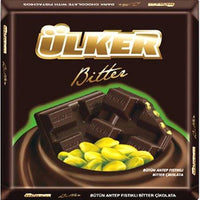 Bitter Chocolate Bar with Pistachio - 2.8oz