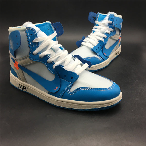 0a426e4c3e215f Jordan 1 Retro High Off-White University Blue – SneakersForKicks