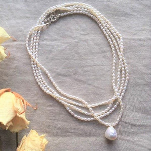 Baroqur pearl necklace set