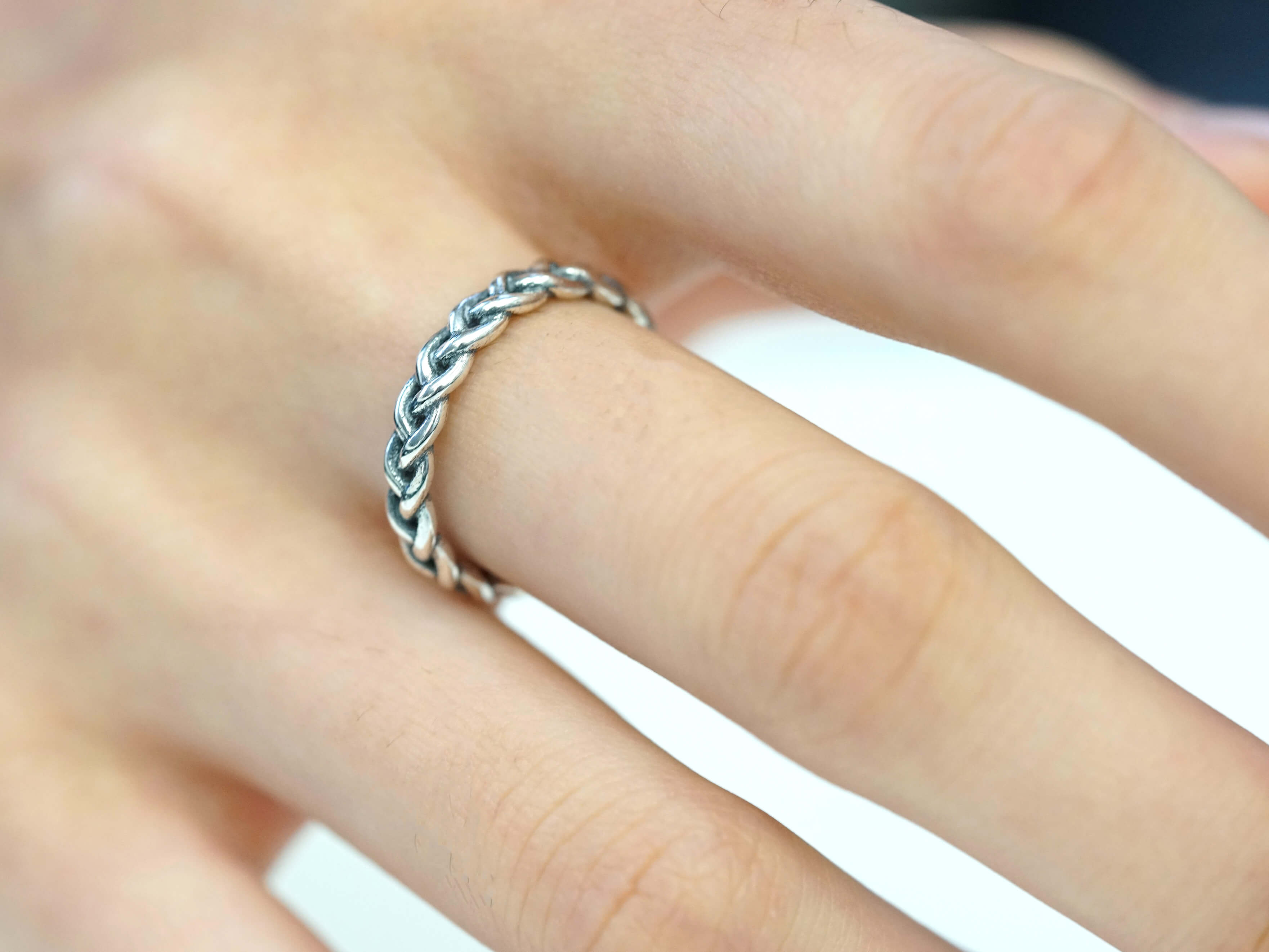 Twisted silver ring