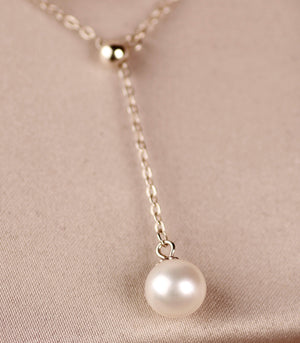 Pearl Y necklace