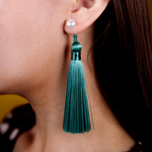 Tassel dangle earrings