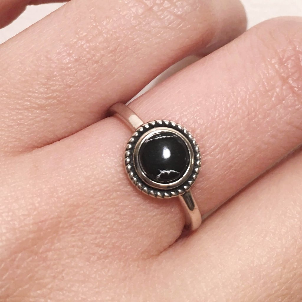Black marble ring
