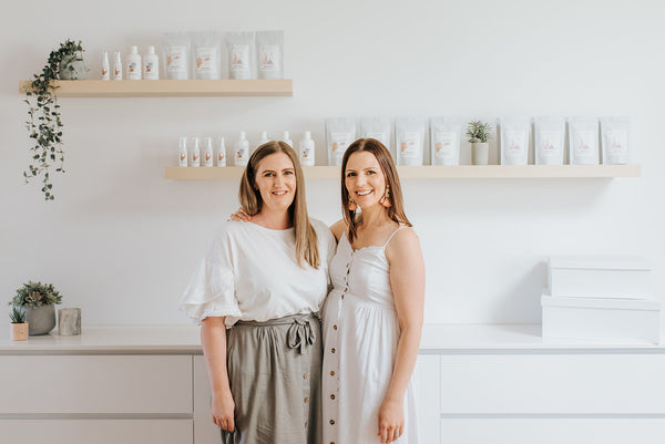 Holly and Marie - The female founders of facing motherhood. A natural and vegan skincare range for Mums.