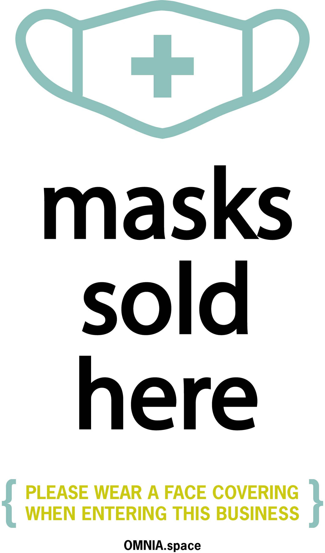 Masks Sold Here Poster