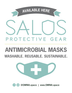 OMNIA SALUS MASKS SOLD HERE POSTER