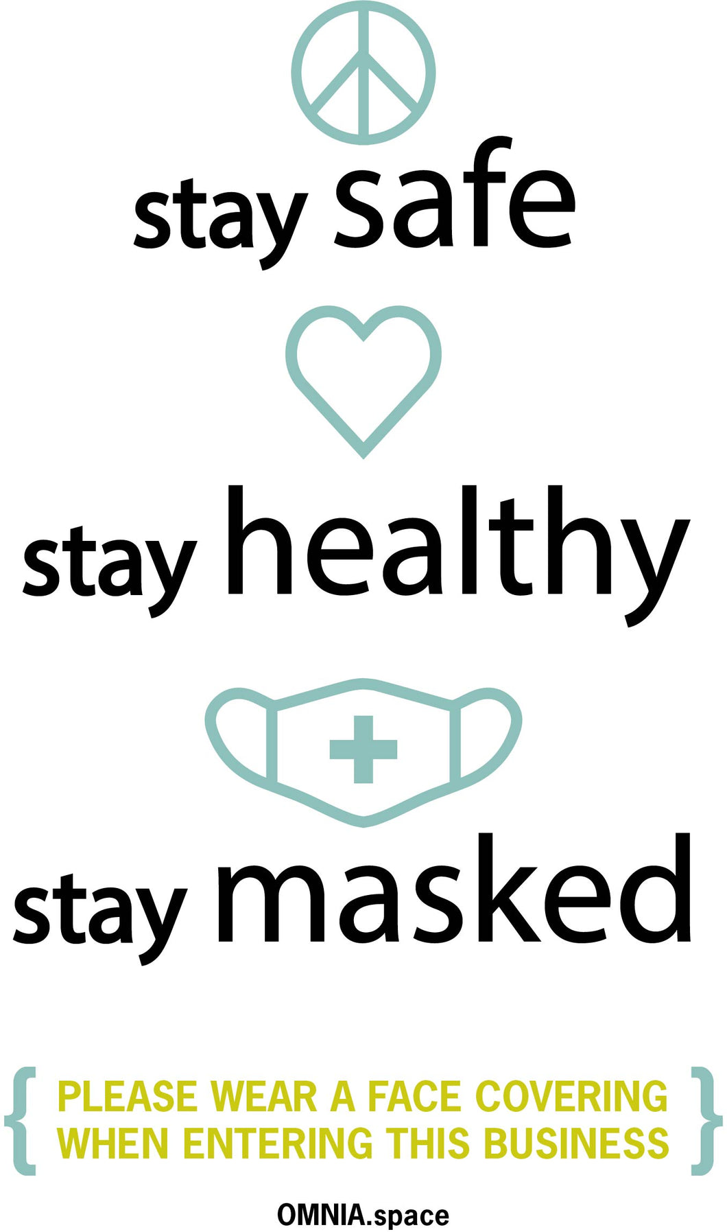 Stay Safe Mask Poster