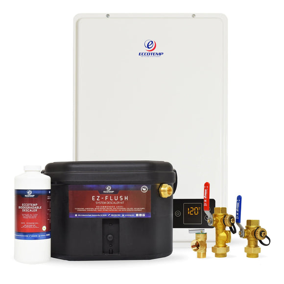 Eccotemp 20HI Indoor 6.0 GPM Natural Gas Tankless Water Heater Service Kit Bundle