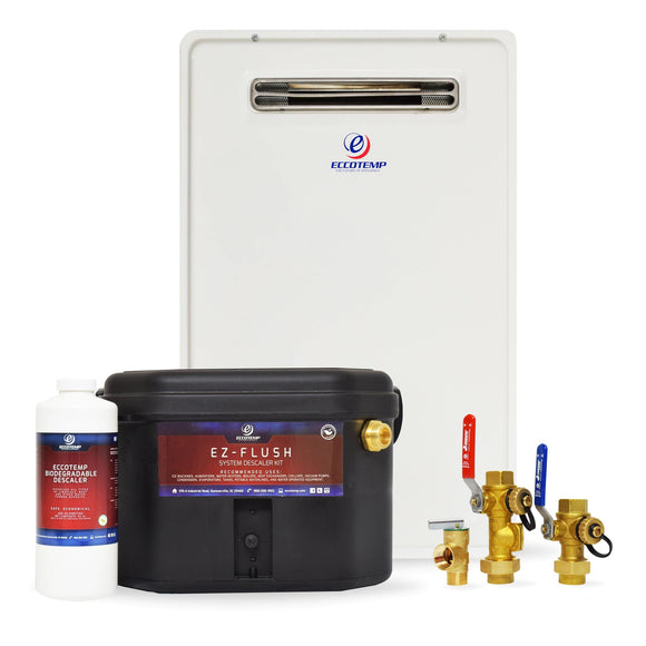 Eccotemp 20H Outdoor 6.0 GPM Natural Gas Tankless Water Heater Service Kit Bundle