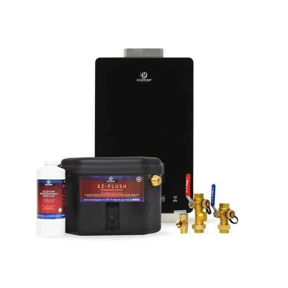 Eccotemp i12 Indoor 4.0 GPM Natural Gas Tankless Water Heater Service Kit Bundle