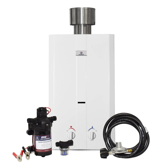 Eccotemp L10 Tankless Water Heater w/ EccoFlo Pump & Strainer