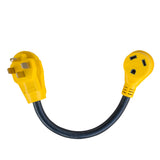 Sportsman Series 18 in. 125 Volt 50 Amp Male to 30 Amp Female Dog-bone RV Camper Power Cable