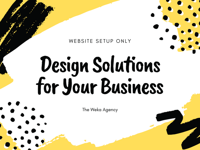 Website design package - Weka Collections LLC