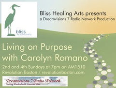 "Radio show, ""Living on Purpose with Carolyn Romano"""