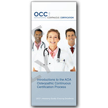 Load image into Gallery viewer, Osteopathic Continuous Certification (OCC) Trifold Brochure