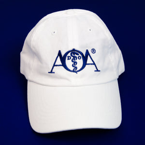 AOA Embroidered White Hat