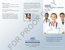 Load image into Gallery viewer, Proof - back of OCC brochure