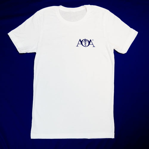 AOA short sleeve white t-shirt