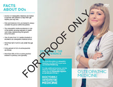 Load image into Gallery viewer, Osteopathic Medicine Trifold Brochure