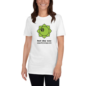 White Best Day Ever Short-Sleeve Unisex T-Shirt
