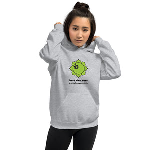 Grey Best Day Ever Unisex Hoodie