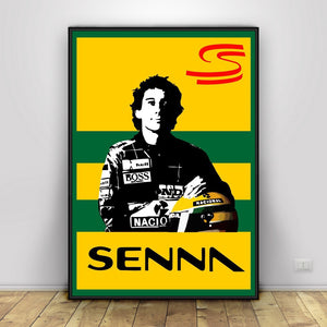 H276 New Ayrton Senna F1 Formula Custom Poster Print Art Decor