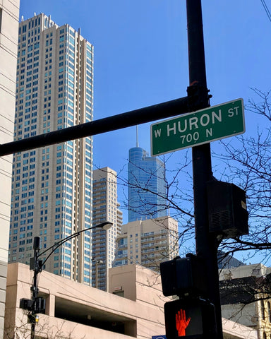 Huron Street in Chicago namesake behind Huron Men's Grooming Products