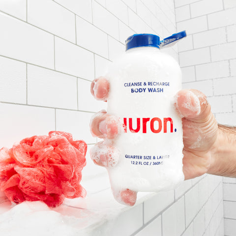 Huron hydrating and odor fighting Body Wash. Great Body Wash for sensitive skin and helps fight acne