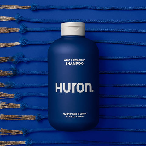 Huron hydrating and strengthening shampoo for men. Helps to fight thinning hair.