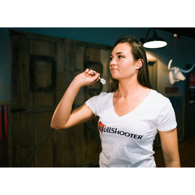 Ladies BullShooter V-neck - White
