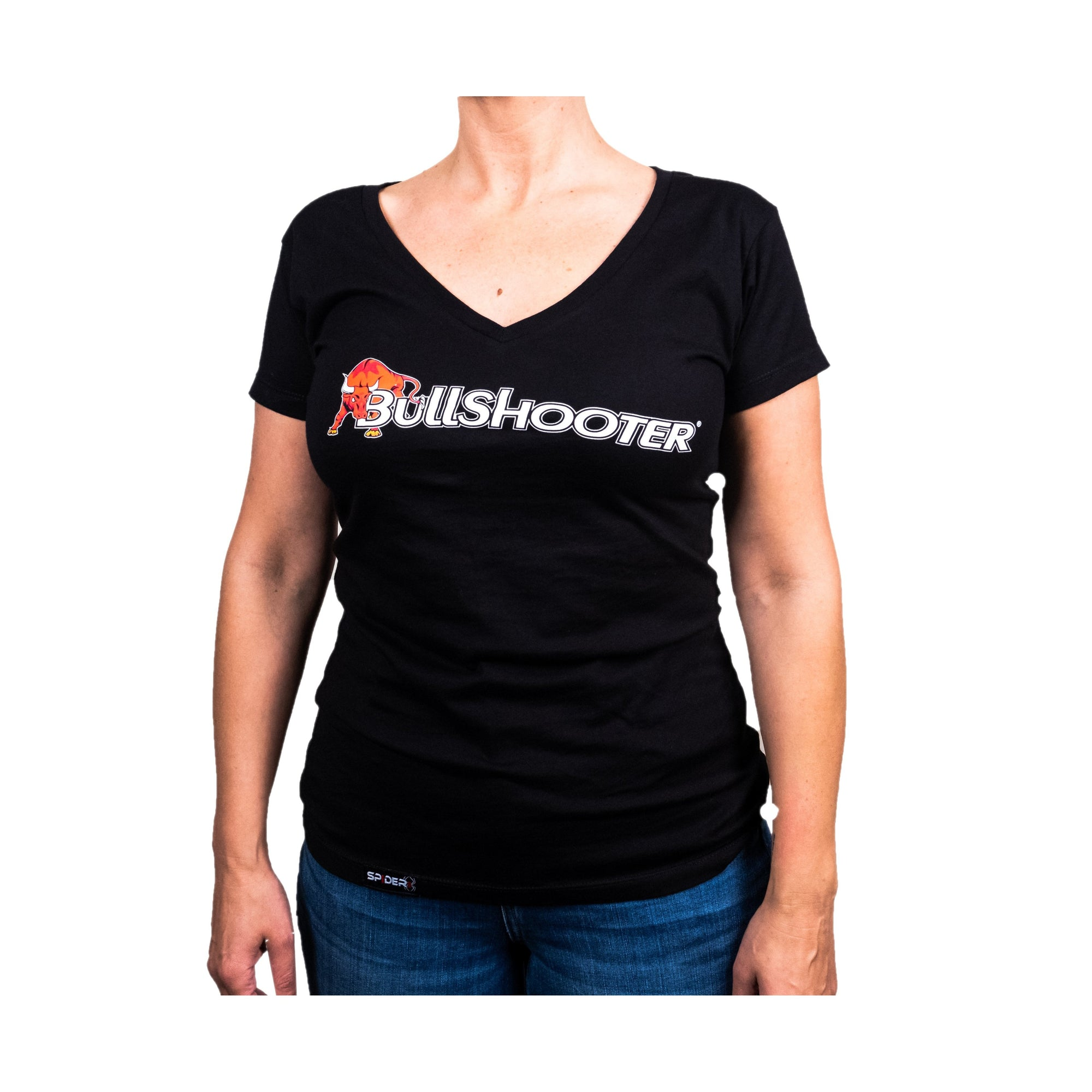 Ladies BullShooter V-neck - Black