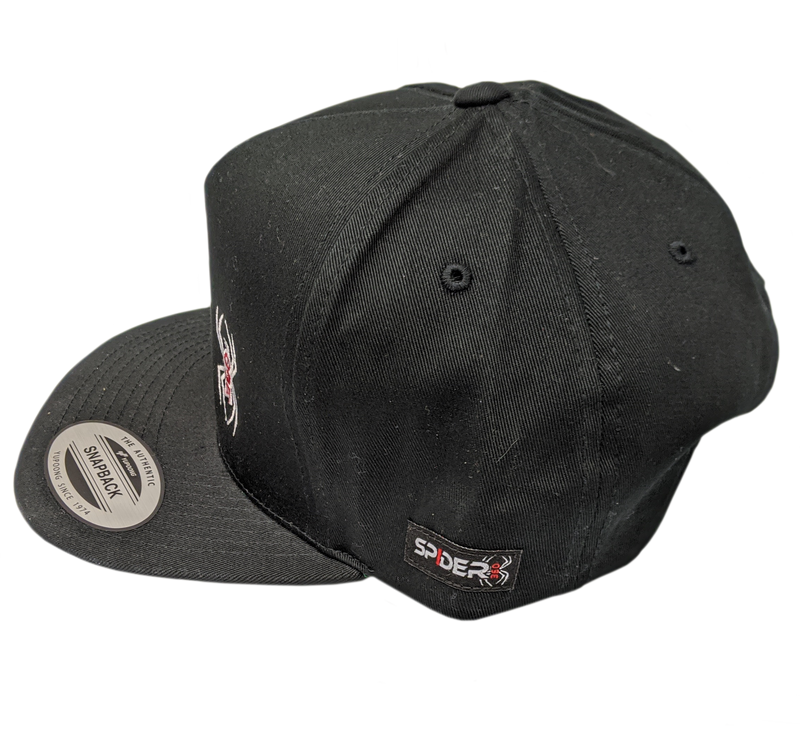 Black Flat Bill Spider 360 Hat
