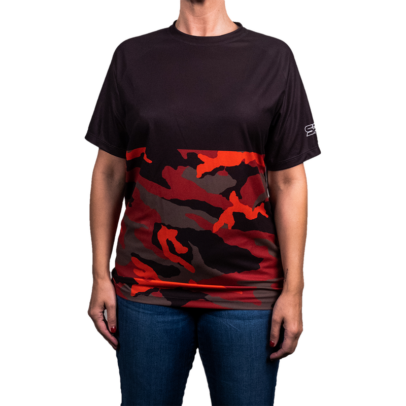 SS Jersey Black Red Camo