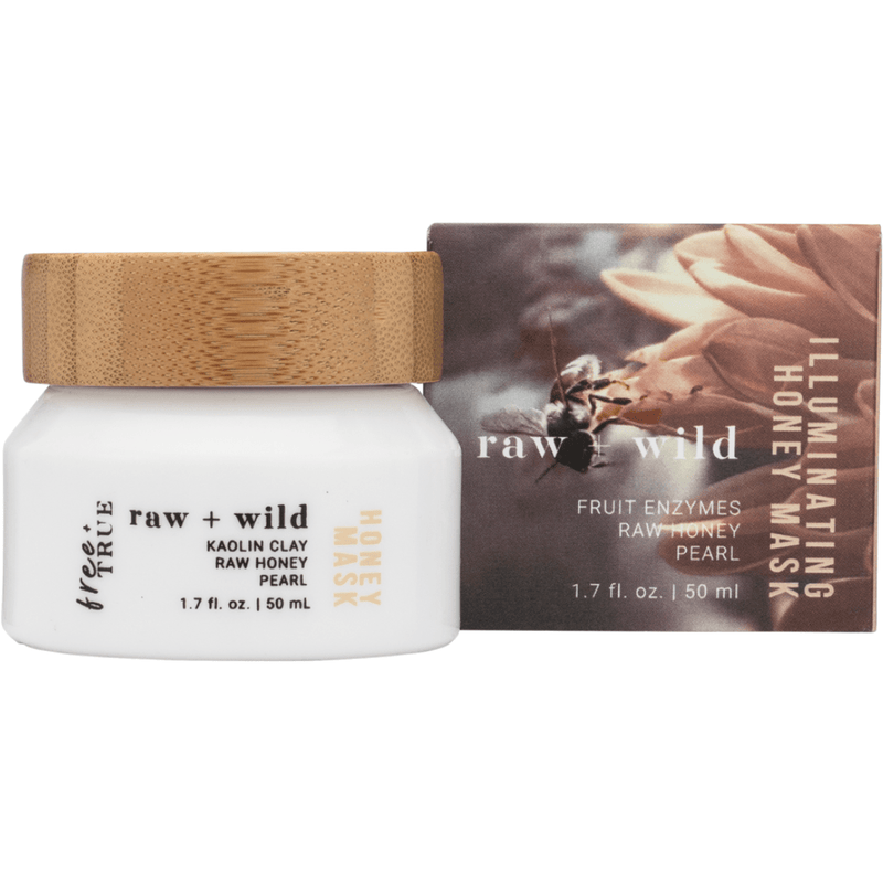 Free + True Masks Raw + Wild Illuminating Honey Mask