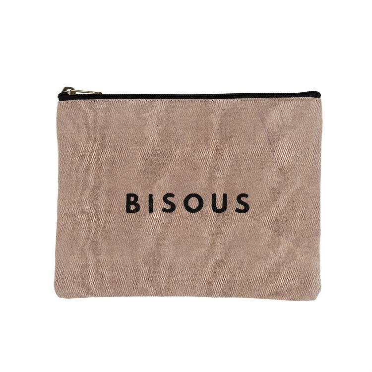"Indaba Brushes & Tools Bisous ""Kiss"" Canvas Pouch"