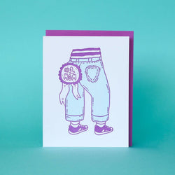 #1 Mom Jeans - Letterpress Greeting Card