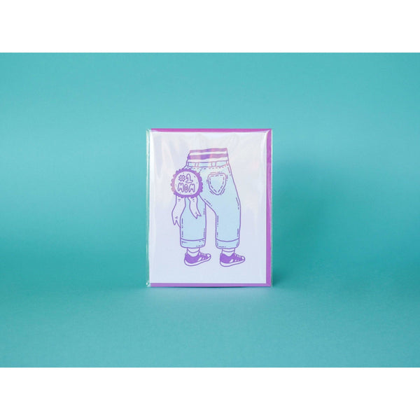 M.C Pressure Paper Goods #1 Mom Jeans - Letterpress Greeting Card