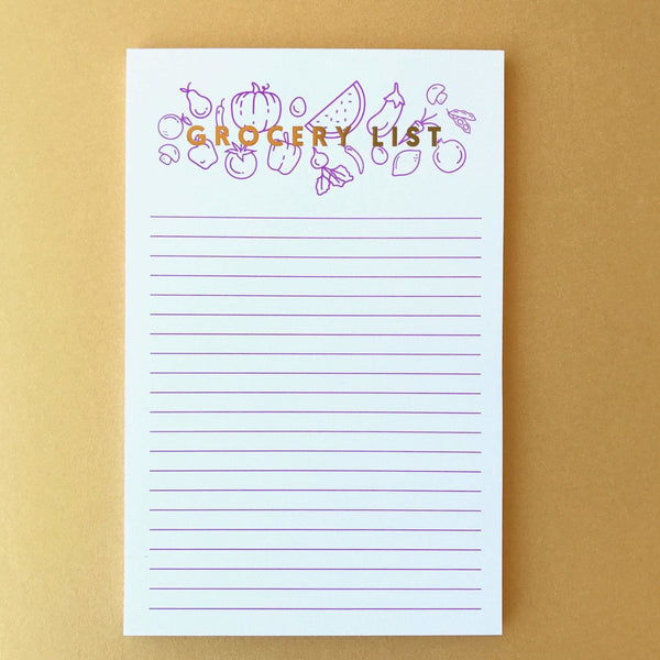 M.C Pressure Paper Goods Grocery List Notepad