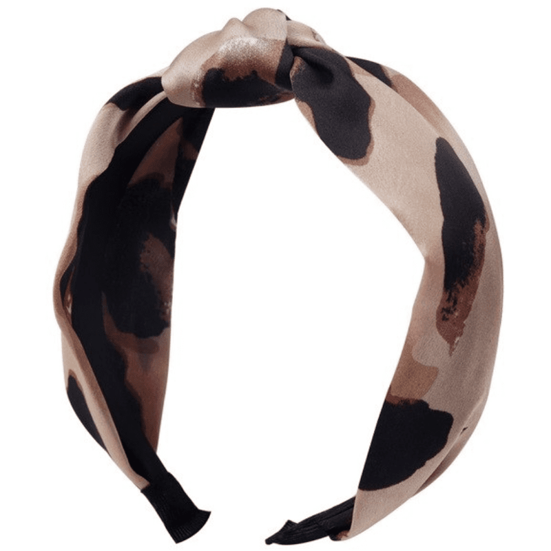 Paris Laundry Accessories Leopard Silk Headband